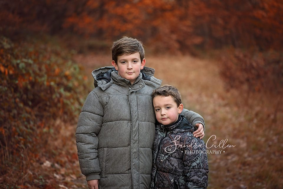 Boys on location in Autumn