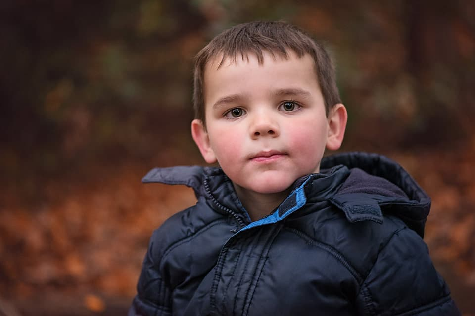 Young boy during Autumn photo walk